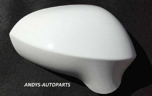 SEAT LEON 09-12 WING MIRROR COVER  R/H OR L/H SIDE IN CANDY WHITE